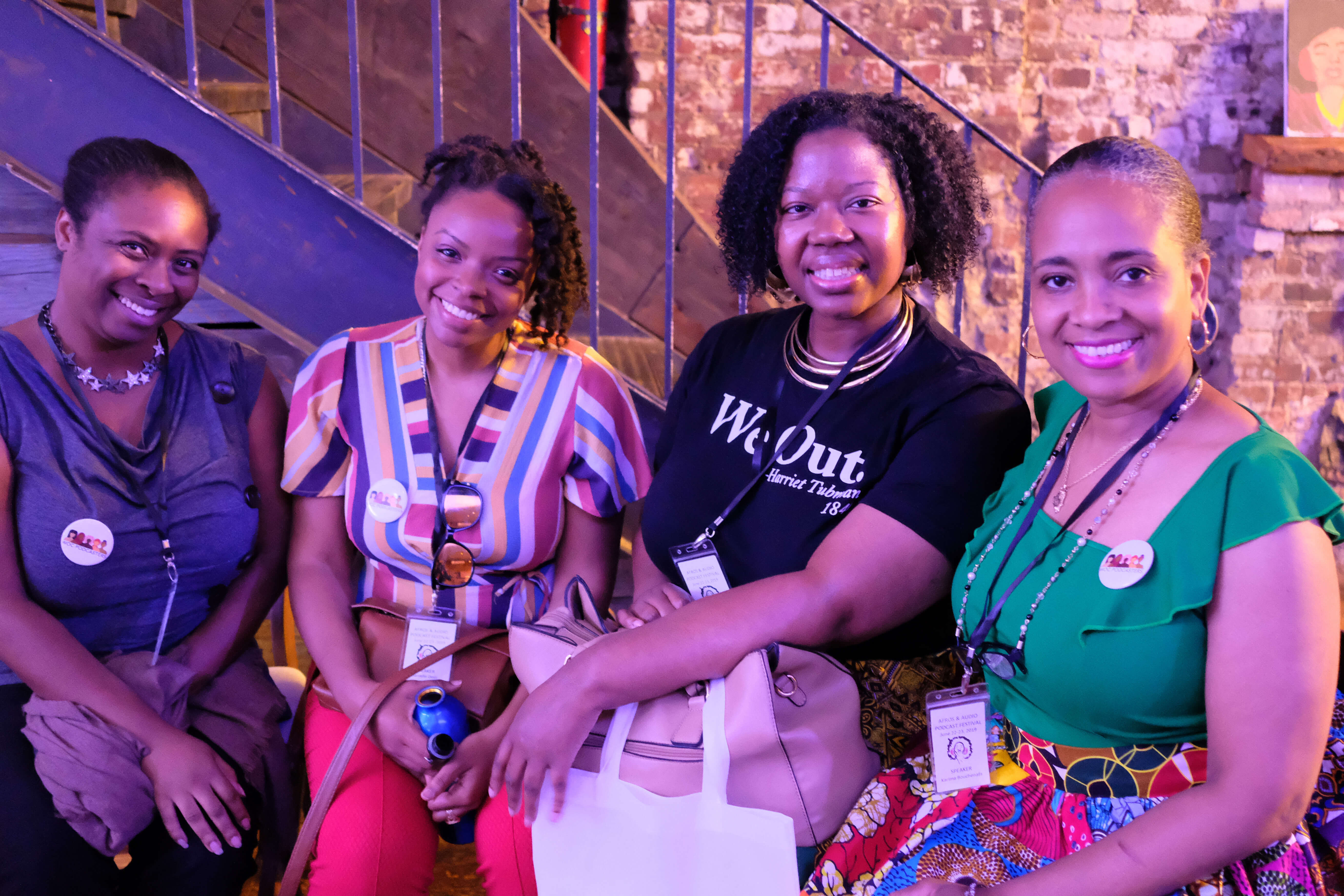 WOC Podcasters at Afros and Audio in New York City.