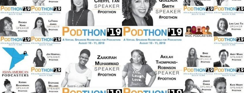 Podthon is a free virtual summit for podcasters formed to create space for more speakers in the podcasting space.