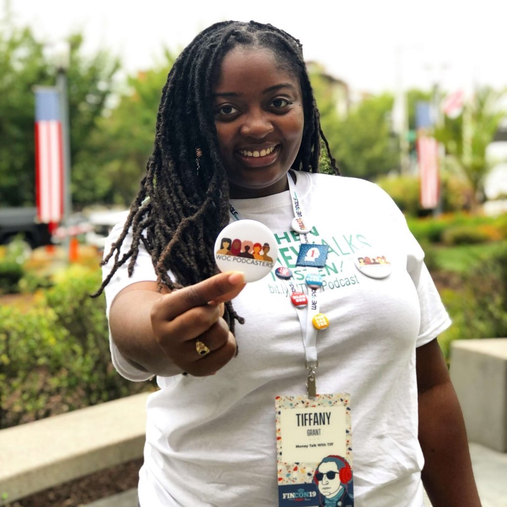 Tiffany Grant Money Strategist, host of Money Talk with Tiff shares tips for podcasters attending FinCon
