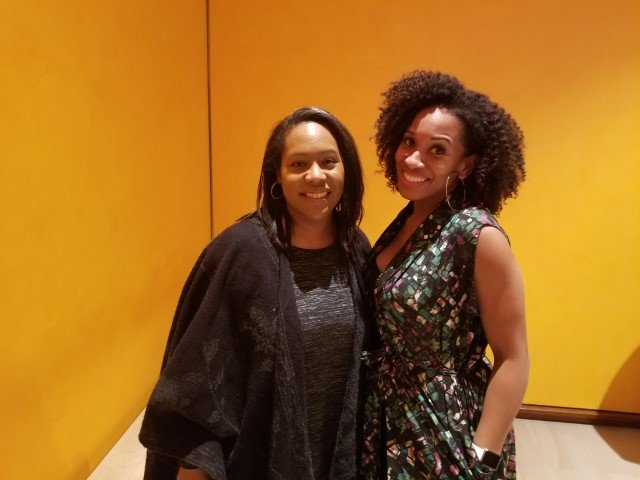 Daree and Malikha at the That's Voiceover conference in NYC.