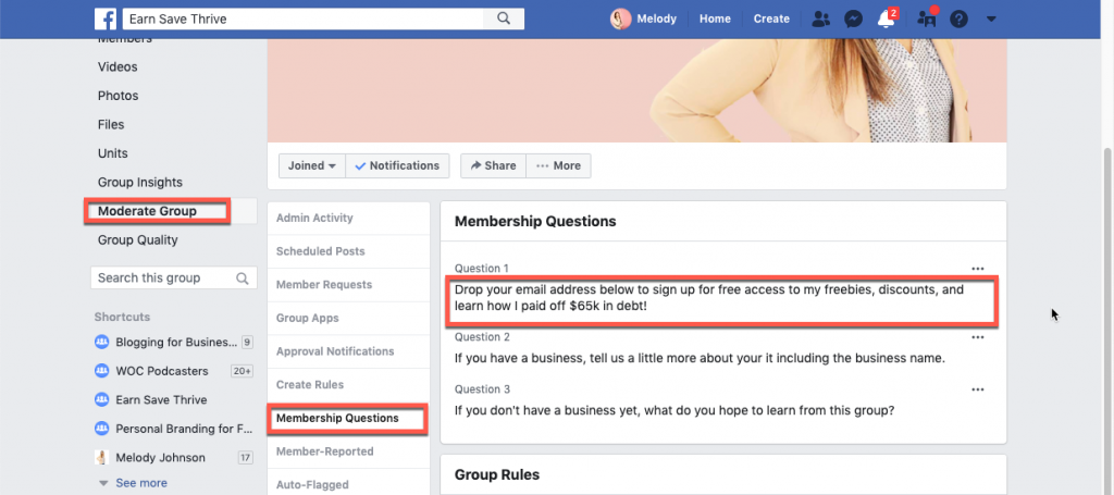 You can use Facebook groups to build email lists.