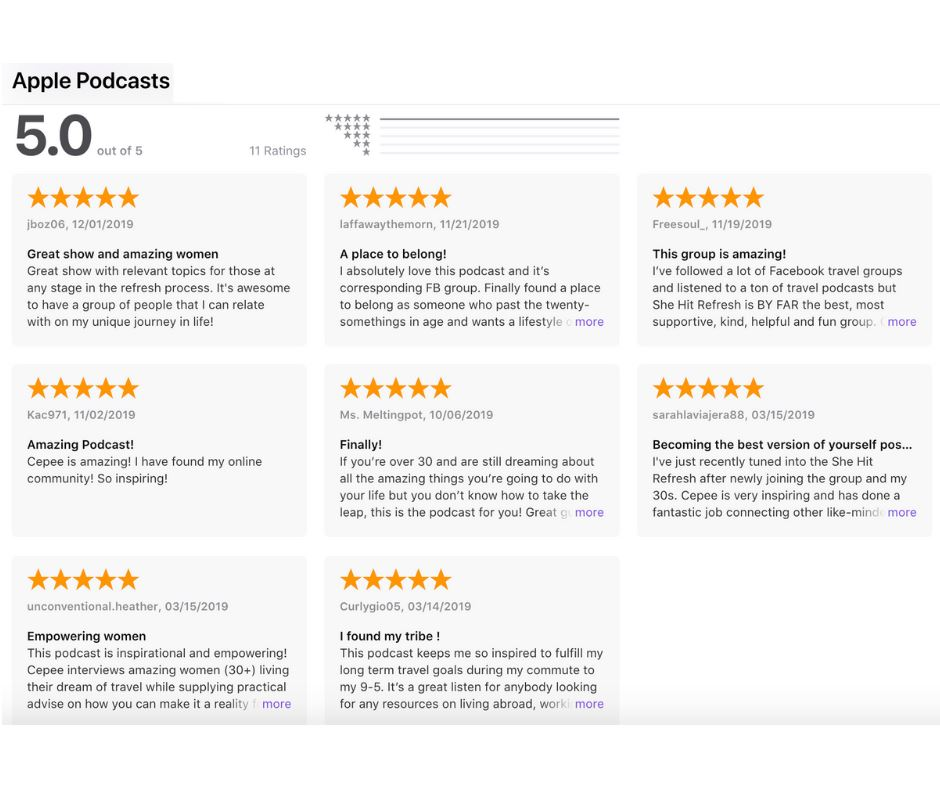 """She Hit Refresh"" Ratings and Reviews on iTunes"