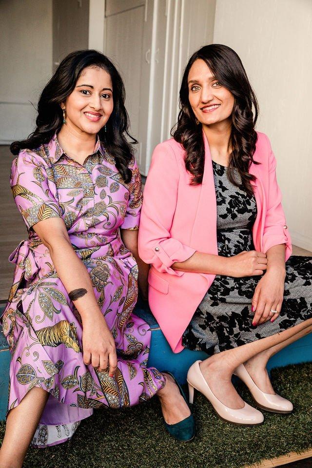 "Archita Sivakumar Fritz and Meha Chiraya, creators of ""The Nine Oh Six"" Podcast"