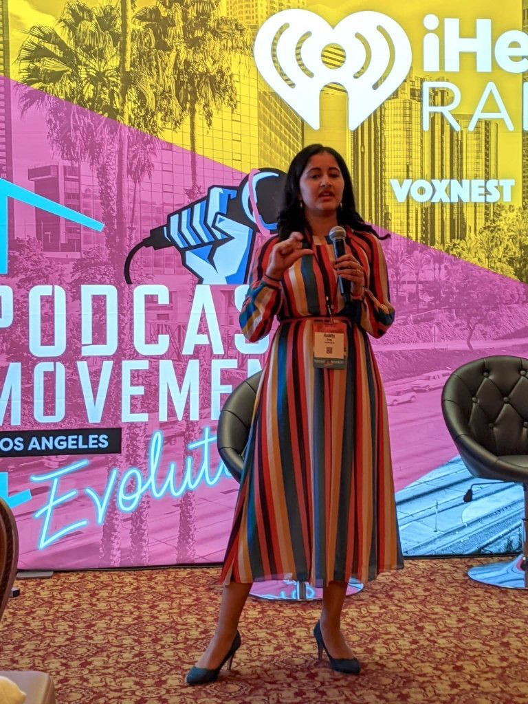 """Archita Suvikumar Fritz co-host of """"The Nine Oh Six"""" podcast speaking at PM2020"""